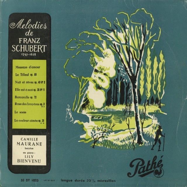 <中古クラシックLPレコード>シューベルト:歌曲集/ます,夜と夢,野ばら,他/C.モラーヌ(br)L.ヴィヌヴェウ(pf)/仏PATHE:DT 1003