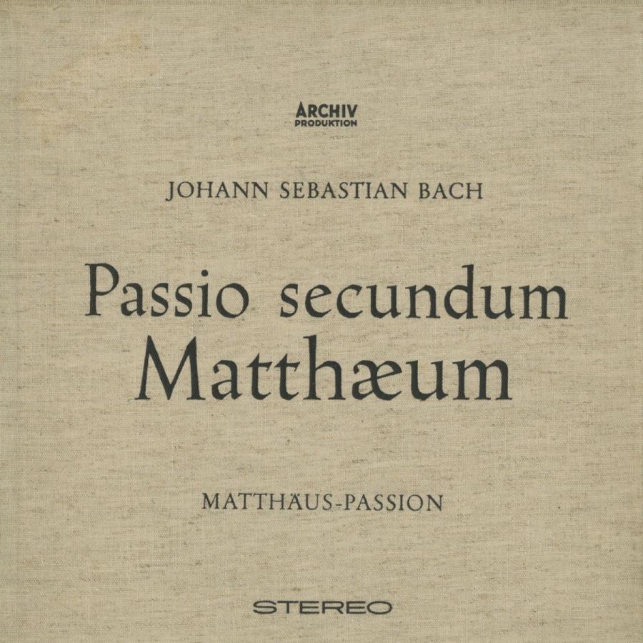<中古クラシックLPレコード>バッハ:マタイ受難曲BWV.244(全曲)/K.リヒター指揮ミュンヘン·バッハo./cho. I.ゼーフリート,A.ファーベルク(s)他