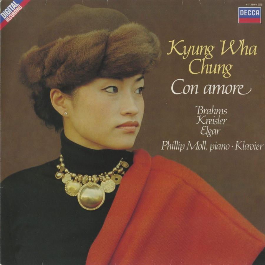 <中古クラシックLPレコード>「Con amore」クライスラー,ヴィエニャフスキ,ドビュッシー,ブラームス,他/K.W.チョン(vn)P.モル(pf)/417 2891