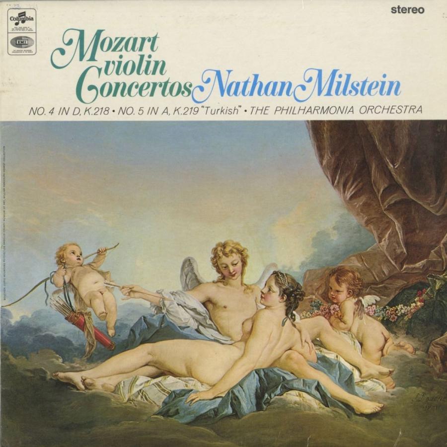 <中古クラシックLPレコード>モーツァルト:ヴァイオリン協奏曲4番K.218,5番K.219「トルコ風」/N.ミルシテイン(vn)フィルハーモニアo.