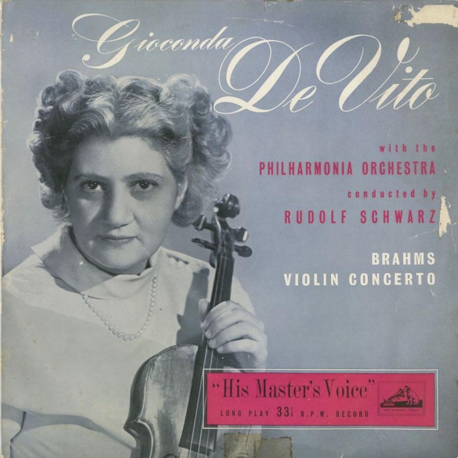 <中古クラシックLPレコード>ブラームス:ヴァイオリン協奏曲Op.77/G.デ·ヴィート(vn)R.シュヴァルツ指揮フィルハーモニアo./英HMV:ALP 1104