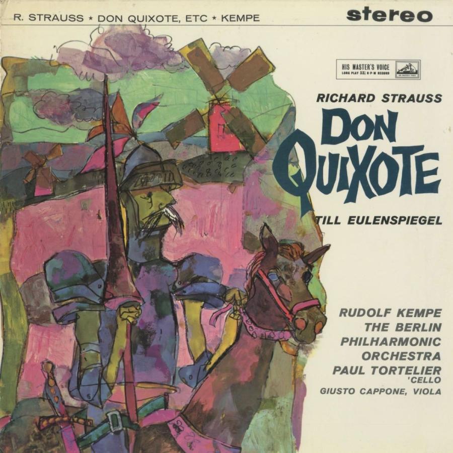 <中古クラシックLPレコード>リヒャルト·シュトラウスト:交響詩「ドン·キホーテ」,他/R.ケンペ指揮ベルリンpo. P.トルトゥリエ(vc)/ASD 326