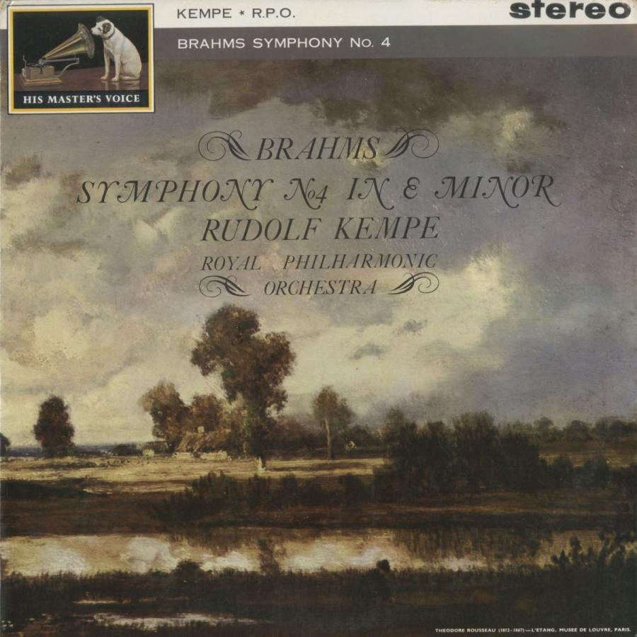 <中古クラシックLPレコード>ブラームス:交響曲4番Op.98/R.ケンペ指揮ロイヤルpo./英HMV:ASD 461
