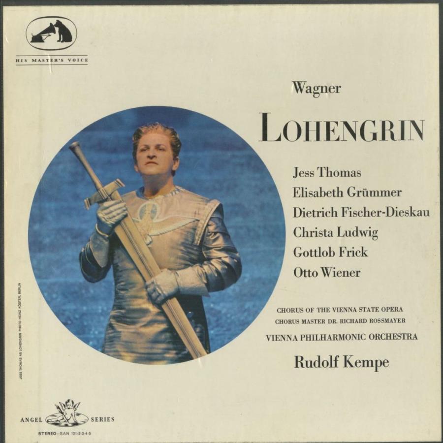 <中古クラシックLPレコード>ワーグナー:ローエングリーン/R.ケンペ指揮ウィーンpo. E.グリュンマー(s)C.ルートヴィヒ、他