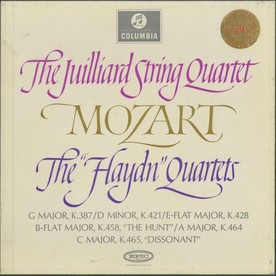 <中古クラシックLPレコード>モーツァルト:弦楽四重奏曲14·19番「ハイドンセット」/ジュリアードQt./英COLUMBIA:SAX 2470-2
