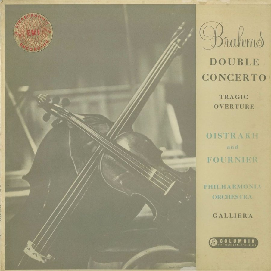 <中古クラシックLPレコード>ブラームス:二重協奏曲,悲劇的序曲/D.オイストラフ(vn)P.フルニエ(vc)A.ガリエラ指揮フィルハーモニアo./SAX 2264