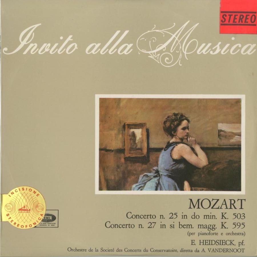 <中古クラシックLPレコード>モーツァルト:ピアノ協奏曲25番,27番/E.ハイドシェック(pf)A.ヴァンデルノート指揮コンセルトヘボウo./伊VDP:SQIM 6367