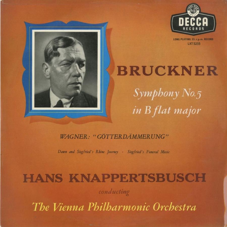 <中古クラシックLPレコード>ブルックナー:交響曲5番,ワーグナー:神々の黄昏·ジークフリートのラインの旅,他/H.クナッパーツブッシュ指揮ウィーンpo.