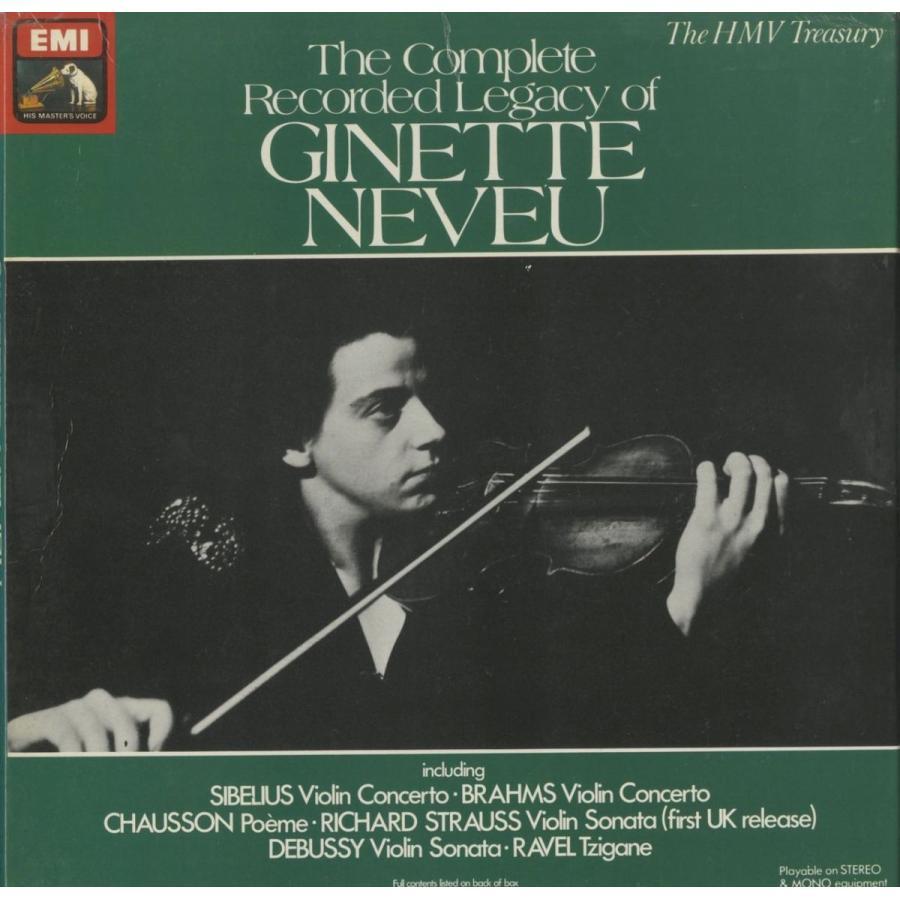 <中古クラシックLPレコード>「ヌヴーの遺産·全録音集」/G.ヌヴー(vn)W.ジュスキント/I.ドブロウェン指揮フィルハーモニアo. J.ヌヴー、他