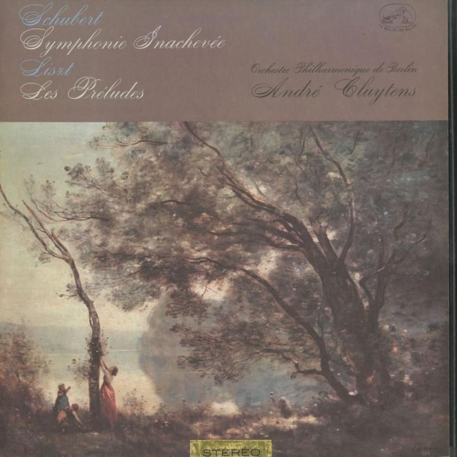 <中古クラシックLPレコード>シューベルト:交響曲8番「未完成」,リスト:交響詩「前奏曲」/A.クリュイタンス指揮ベルリンpo./仏VSM:ASDF 199