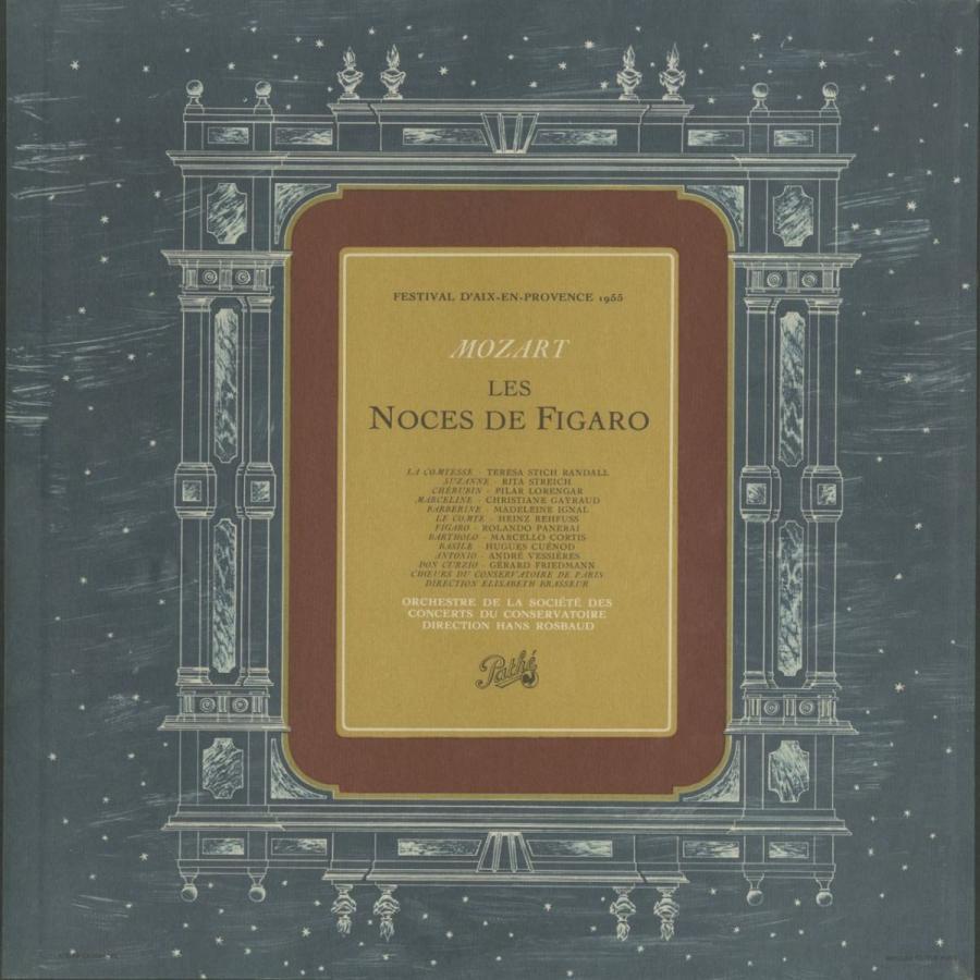 <中古クラシックLPレコード>モーツァルト:「フィガロの結婚」/H.ロスバウト指揮パリ音楽院o./cho. T.シュティヒ·ランダル/R.シュトライヒ(s)他
