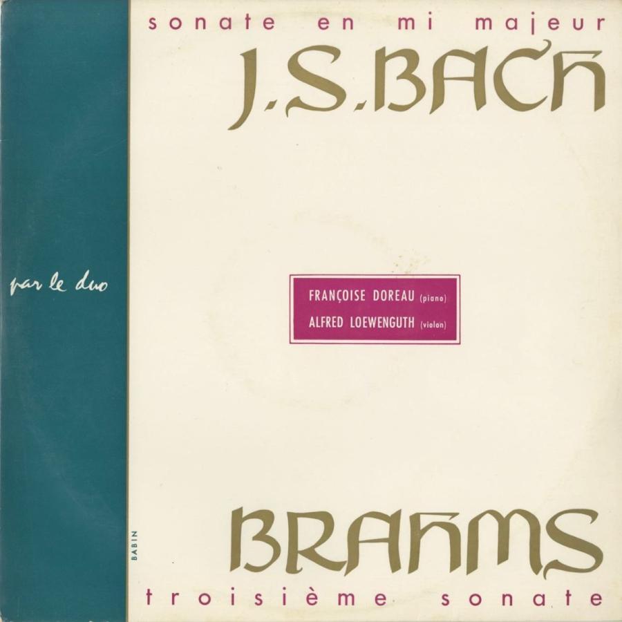 <中古クラシックLPレコード>バッハ:ヴァイオリン·ソナタ3番,ブラームス:ヴァイオリン·ソナタ3番/A.レーヴェングート(vn)F.ドロー(pf)