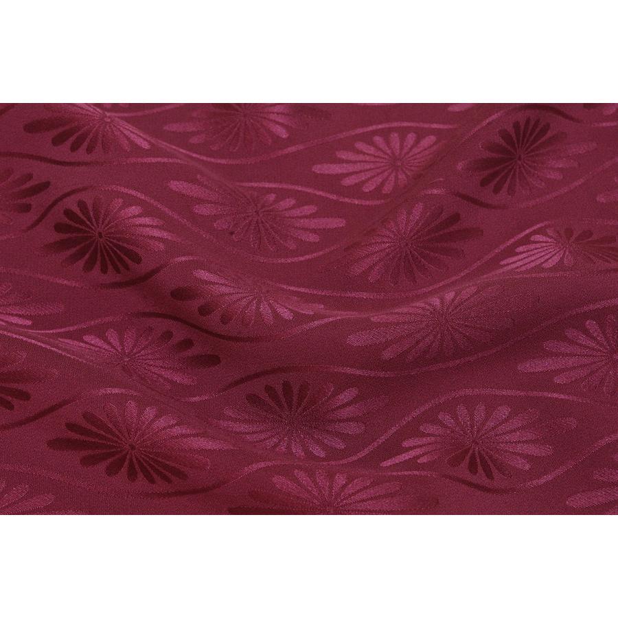 シルク 綸子 リンズ 紫系の地色の無地 立涌に菊の地紋 正絹 和柄 ハギレ 友禅 はぎれ 迅速な対応で商品をお届け致します 生地 衣装 激安超特価 和風 着物