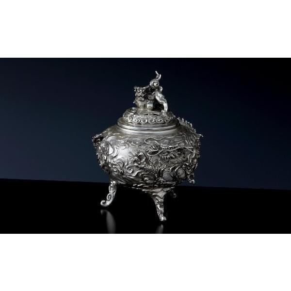銀製香炉 「雲竜」