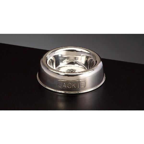 愛犬の為の贅沢 純銀製ペットフード皿 S