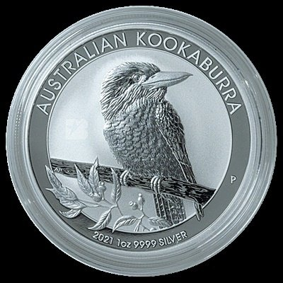 オーストラリア ワライカワセミ 1オンス銀貨 商品 2021年 品位.999 ストアー パース造幣局発行