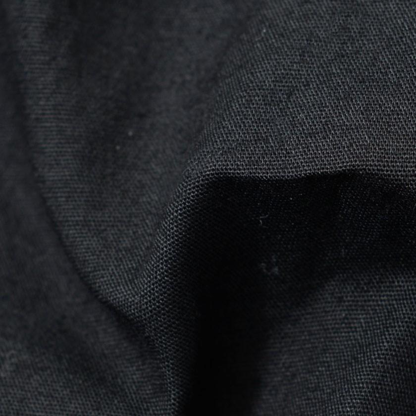 """"""" 長袖シャツ メンズ バンドカラー 日本製 無地 きれいめ 黒 白シャツ M L XL 秋 冬 2021 CavariA """" silverbulletxfuga 14"""