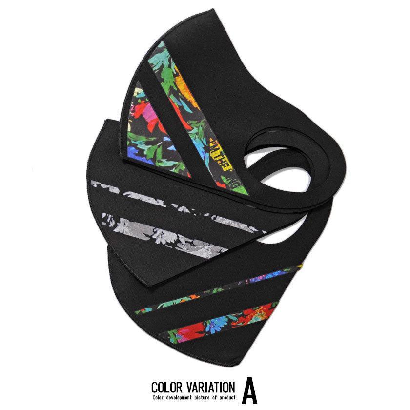 """"""" マスク 洗える メンズ 3枚入り SB select 3Pファッションマスク (返品・交換対象外商品) おしゃれ 総柄 花柄 迷彩柄 カモフラージュ柄 """" silverbulletxfuga 02"""