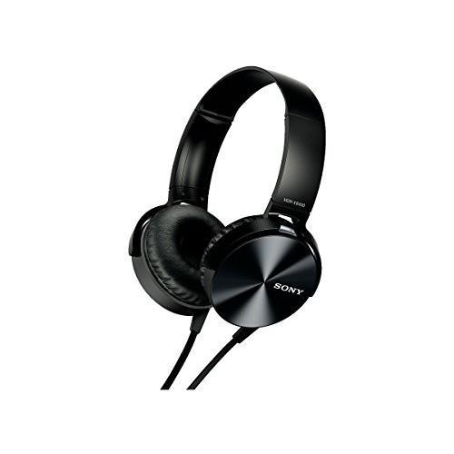 ソニー SONY ヘッドホン MDR-XB450 : 密閉型 折りたたみ式 ブラック MDR-XB450 B