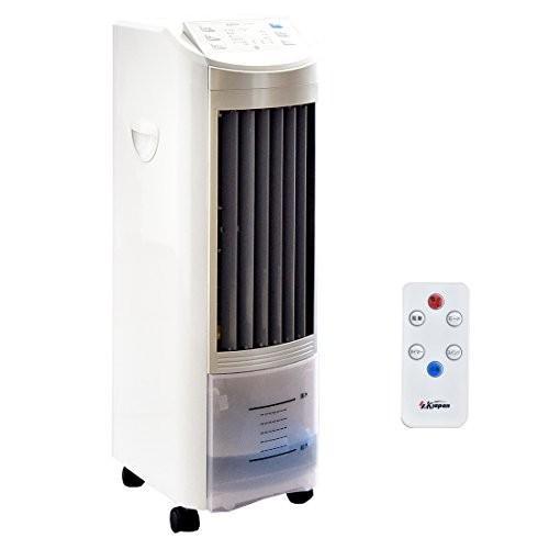 タンスのゲン 冷風扇 扇風機 保冷剤2個付 マイナスイオン 風量3段階 タイマー機能 リモコン式 省エネ 抗菌 キャスター付 ホワイト 258000