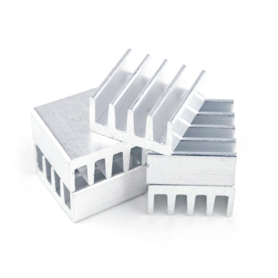 ヒートシンク 冷却 フィン アルミ製 開店祝い 放熱 DIY ミニ正方形 限定モデル 5個セット ポイント消化