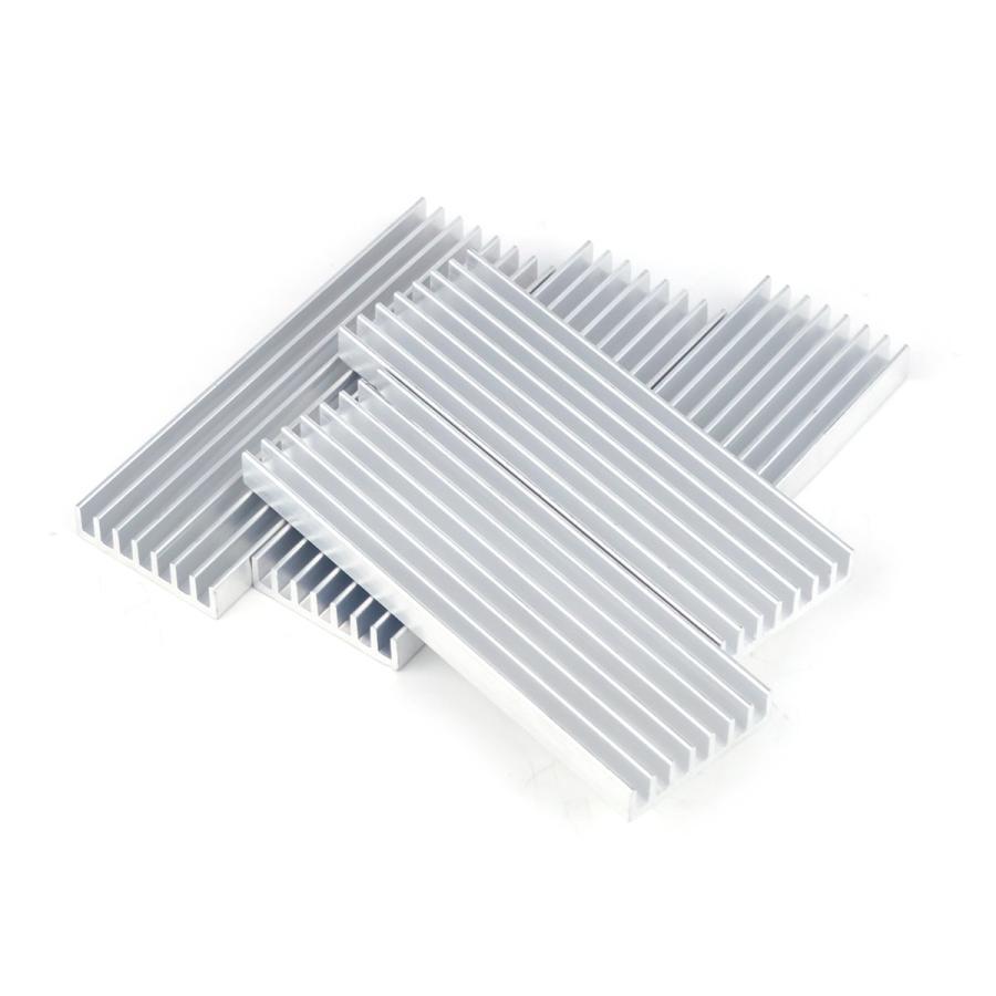 ヒートシンク 冷却 フィン アルミ製 放熱 最新号掲載アイテム ポイント消化 5個セット 爆買い送料無料 ロング長方形 DIY