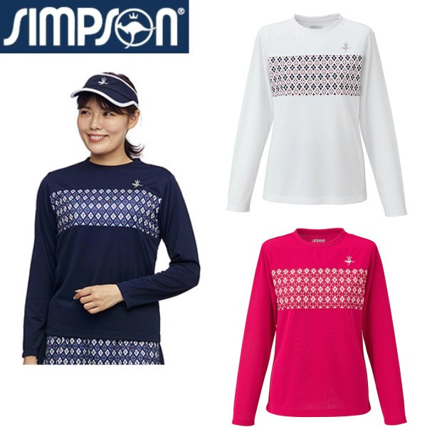 シンプソン Simpson 激安超特価 新作販売 テニスウェア レディース STW-02107 長袖 ゲームシャツ