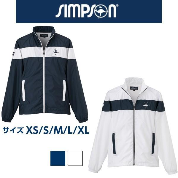 SALE シンプソン Simpson テニスウェア メンズ レディース 兼用 ウォームアップ ジャケット STW-81500