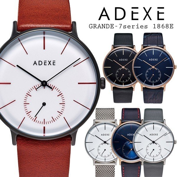 793502bea1 メンズ レディース 腕時計 ADEXE アデクス GRANDE-7series 1868E ユニセックス スモールセコンド付 アナログ 日本 ...