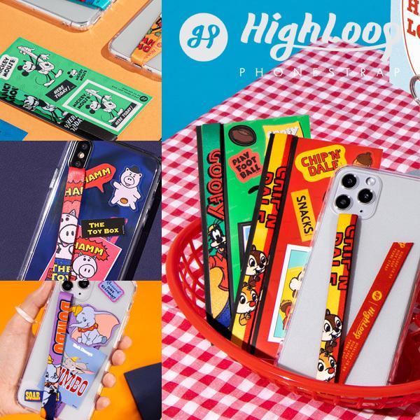 スマホ 落下防止 ストラップ バンド Disney ディズニー HighLoop ハイループ iPhone 携帯 おしゃれ 片手 韓国 ミッキー トイストーリー メール便OK sincere-inc 02
