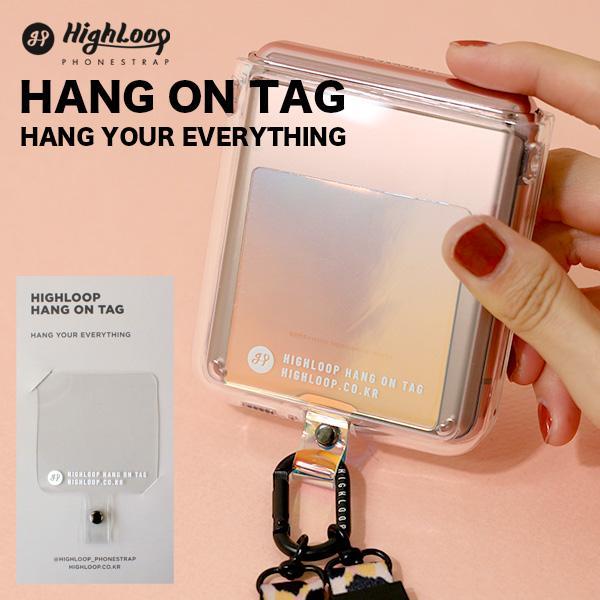 ハングオンタグ ハイループ HighLoop HANG ON TAG フォンストラップ パーツ 単品 スマホ メール便OK iPhone 韓国 落下防止 携帯 売却 国内正規総代理店アイテム おしゃれ android
