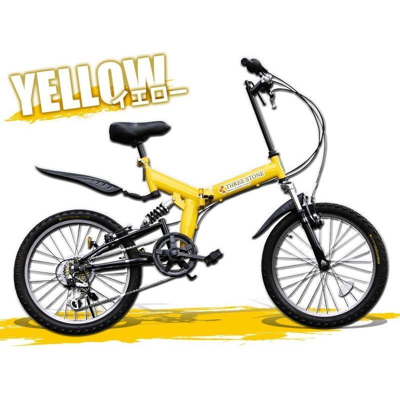 本州送料無料 ライト カギ付き フルサスペンション 折りたたみ自転車 軽量 20インチ シマノ製6段ギア MTB マウンテンバイク 街乗り AIJYU AJ-01|sincere-store|02