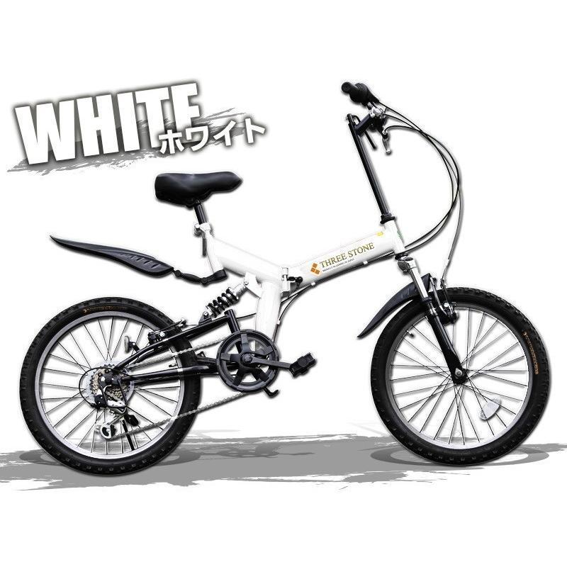 本州送料無料 ライト カギ付き フルサスペンション 折りたたみ自転車 軽量 20インチ シマノ製6段ギア MTB マウンテンバイク 街乗り AIJYU AJ-01|sincere-store|03