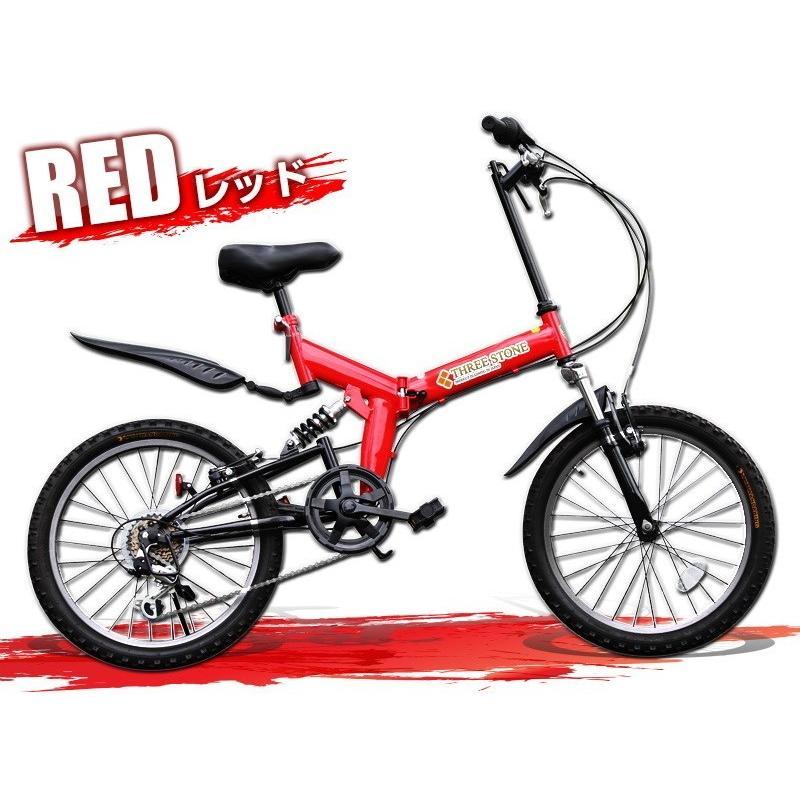 本州送料無料 ライト カギ付き フルサスペンション 折りたたみ自転車 軽量 20インチ シマノ製6段ギア MTB マウンテンバイク 街乗り AIJYU AJ-01|sincere-store|04