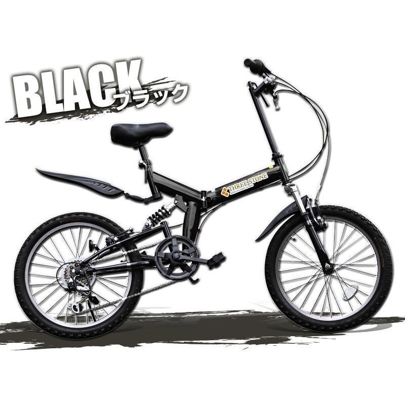 本州送料無料 ライト カギ付き フルサスペンション 折りたたみ自転車 軽量 20インチ シマノ製6段ギア MTB マウンテンバイク 街乗り AIJYU AJ-01|sincere-store|05