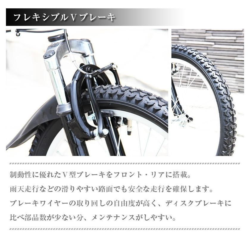 本州送料無料 ライト カギ付き フルサスペンション 折りたたみ自転車 軽量 20インチ シマノ製6段ギア MTB マウンテンバイク 街乗り AIJYU AJ-01|sincere-store|09