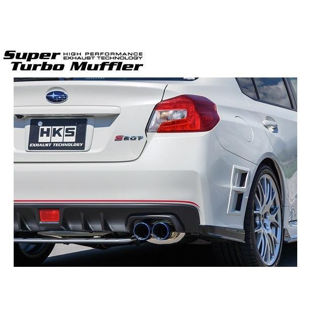 買い物 WRX ST1 CBA-VAB マフラー Ti-1 交換無料 チタン Super HKS Muffler 配送先条件有り 31029-AF013 Turbo