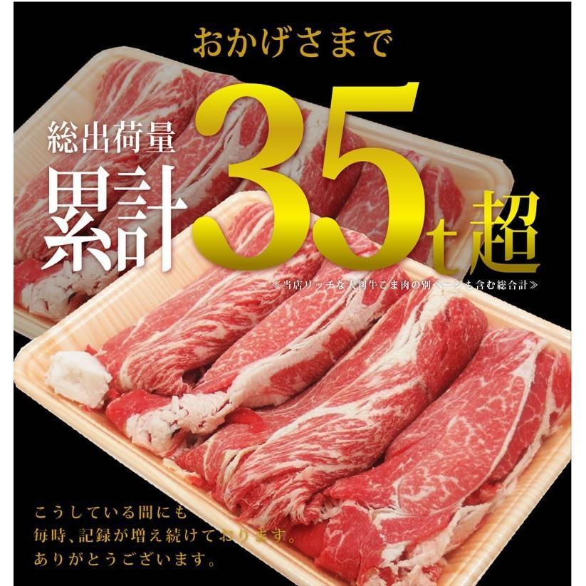 牛肉 リッチな 和牛 こま 肉 メガ盛り 1kg 送料無料 九州産 ・ 黒毛和牛 の大判サイズ 牛こま 牛肉  singaki-meat 03