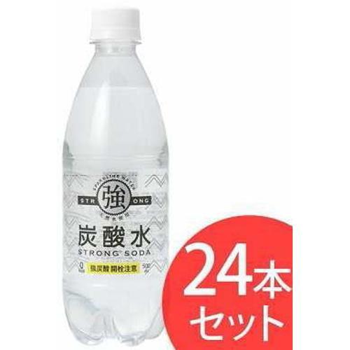 [飲料水]友桝 強炭酸水 500mlペット 1ケース(24本入)|sintounakano