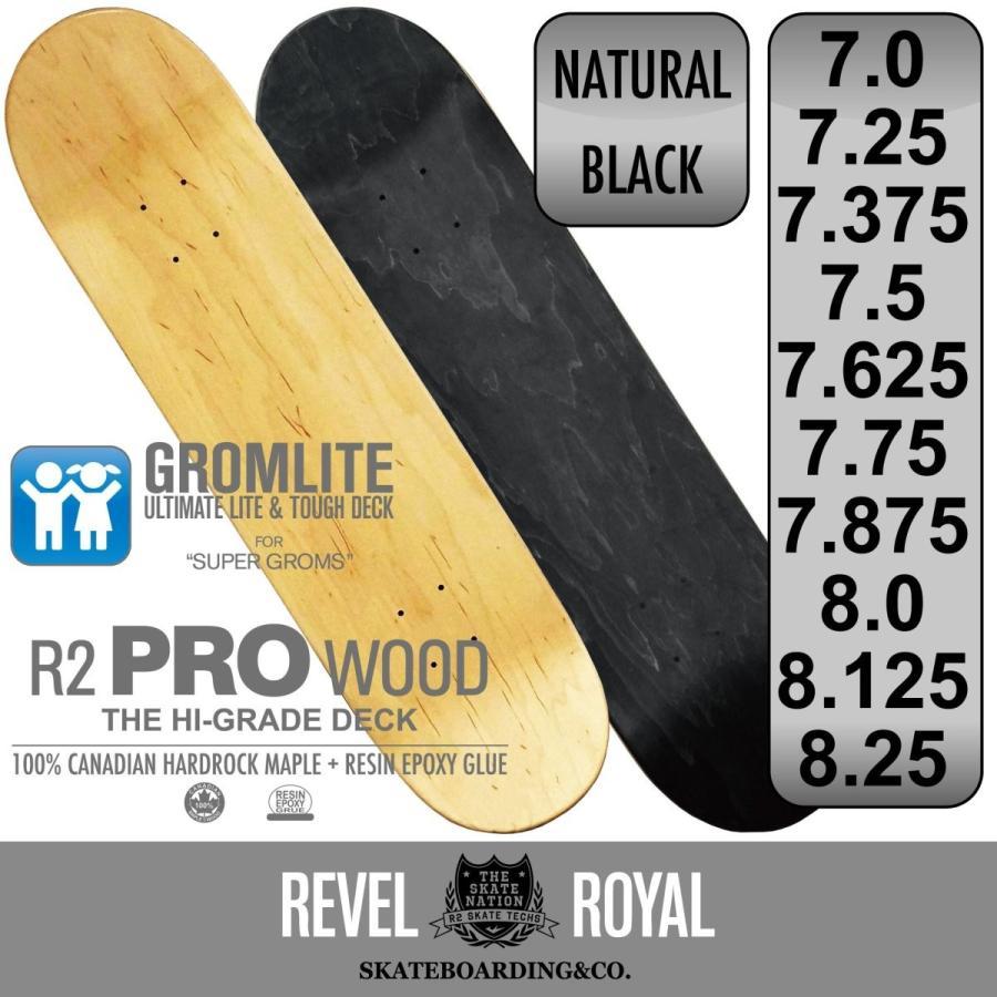 レベルロイヤル(Revel Royal) スケートボード スケボー プロ ブランク デッキ 子供用 7.0インチ ナチュラル 木目 無地 100%