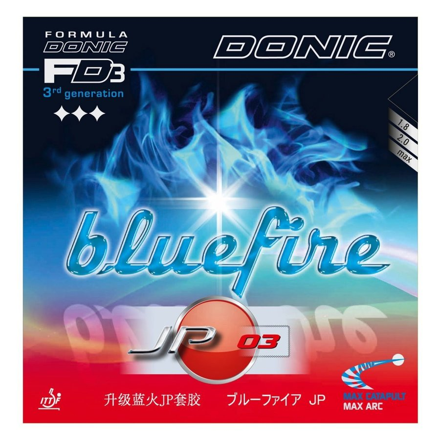 DONIC(ドニック) 卓球 ブルーファイア JP03 裏ソフトラバー ブラック AL068