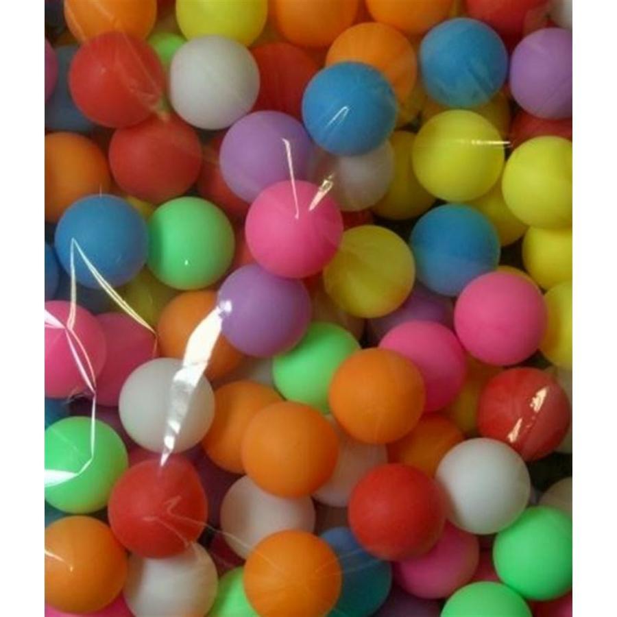 ARARAGI イベント用 卓球 ボール カラフル ピンポン 玉 40 シームレス 球 ロゴ無し PP材 (6色カラフル球:300個セット)
