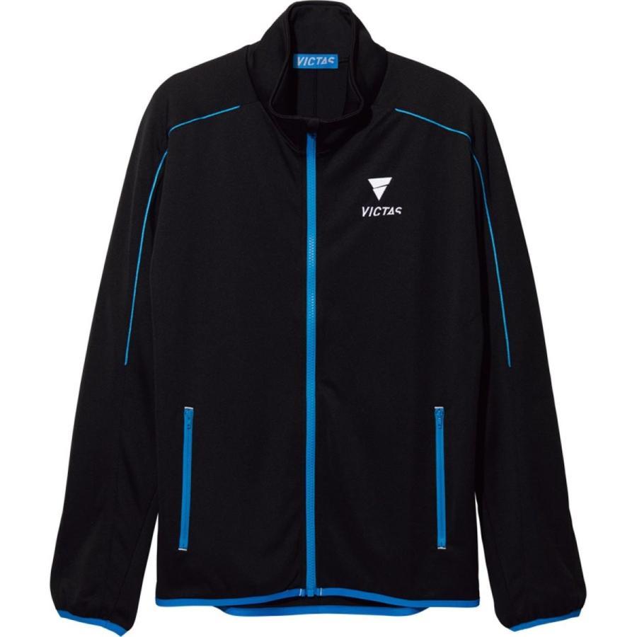 VICTAS(ヴィクタス) 卓球 男女兼用 トレーニングジャケット V-NJJ041 033148 ブラック×ブルー(0022)