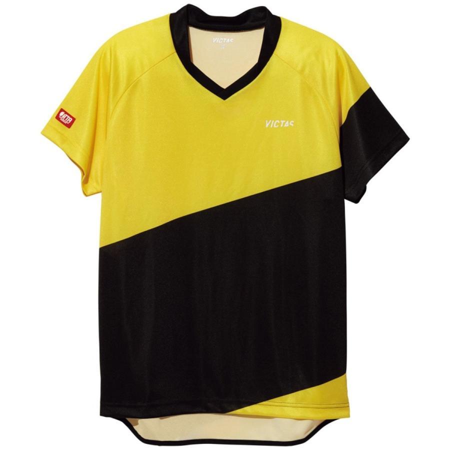 VICTAS(ヴィクタス) 卓球 男女兼用 ゲームシャツ V-GS039 031462 イエロー×ブラック(0401) 2XS