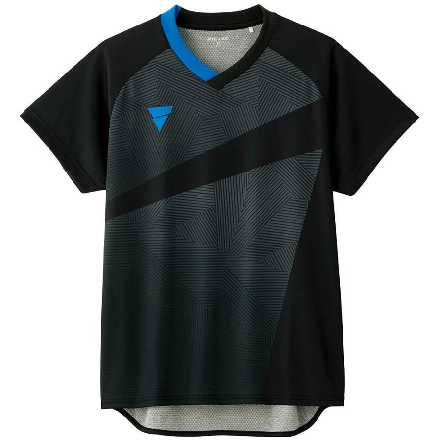VICTAS(ヴィクタス) 卓球 男女兼用 ゲームシャツ V-GS801 031474 ブラック 2XS