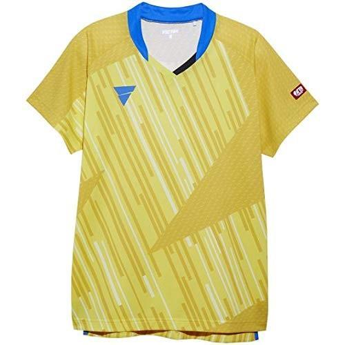 ヴィクタス(VICTAS) 卓球 男女兼用 ゲームシャツ V-NGS900 2019年度 男子日本代表モデル 公式試合着用可 イエロー 2XS 03