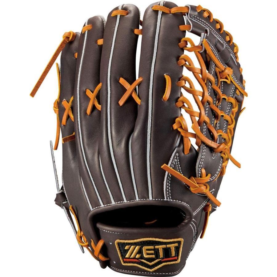 ゼット(ZETT) 硬式野球 グラブ (グローブ) プロステイタス 外野手用 右投げ用 ブラウン×オークブラウン(3736) サイズ:8 日本製 B