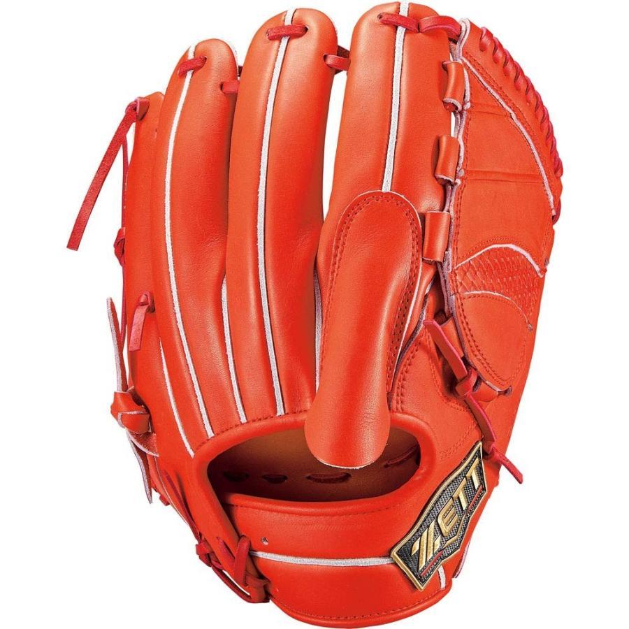 ZETT(ゼット) 硬式野球 グラブ (グローブ) プロステイタス SEシリーズ ピッチャー用 左投げ用 ディープオレンジ (5800) 日本製