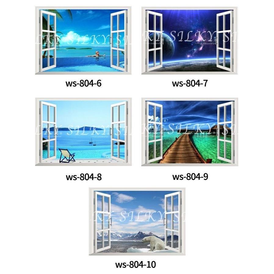 D2ウォールステッカ トリック窓 選べる10種類 北欧 はがせる 壁紙