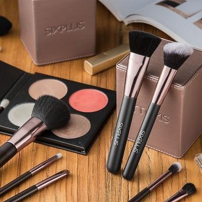 今日限り限定商品最大30%OFF! SIXPLUS メイクブラシ15本セット 限定版魅力のブラウン 説明書付き メイク小物|sixplus|07